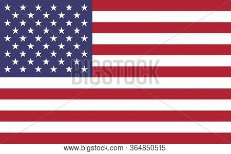 Usa Flag Vector Graphic. Rectangle American Flag Illustration. Usa Country Flag Is A Symbol Of Freed