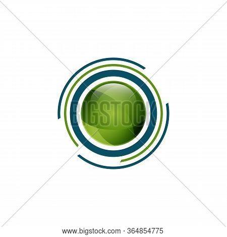 Circle Tech Logo . Arrow Tech Logo Design Vector Stock . Circle Tech Logo Design . Arrows Ball Shiny