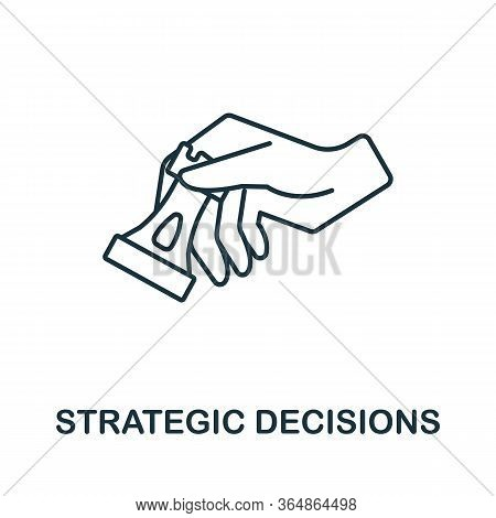 Strategic Decisions Icon From Global Business Collection. Simple Line Strategic Decisions Icon For T