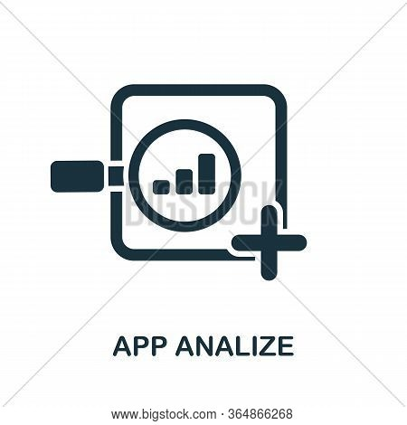 App Analyse Icon From Mobile App Development Collection. Simple Line App Analyse Icon For Templates,