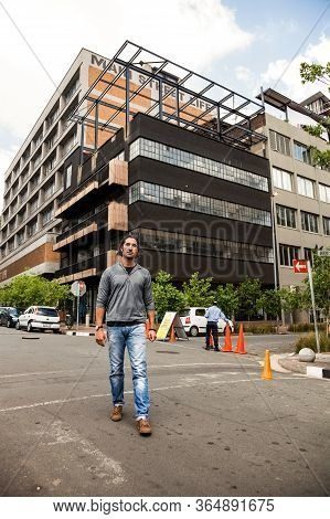 Real Estate Mogul, Jonathan Liebman Walking In Streets Of Maboneng Precinct, A Commercial And Reside