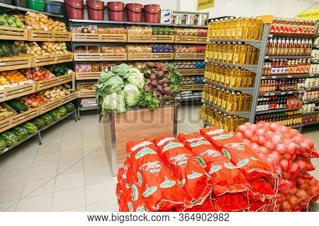 Fully Stocked Shelves Of Food And Household Items At Local Pick N Pay Grocery Store