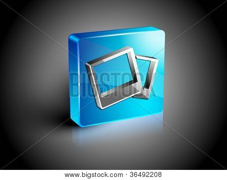 Glossy web 2.0 image gallery icon symbol icon set. EPS 10.