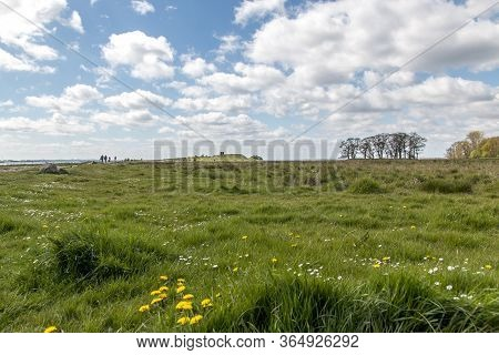 Kalo, Denmark - May 02, 2020: Kalo Castle (kalø Slot) Is A Historic Ruined Castle Located In Eastern