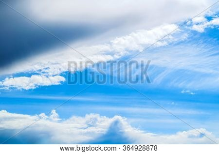 Dramatic blue sky background. Vast sky landscape panoramic scene, cloudy sky landscape view. Sky background, picturesque sky landscape. Sky scene, colorful sky nature