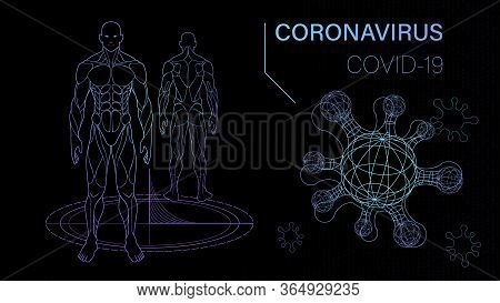 Background Science Fiction About Virus And Human Body, Quarantine Bacterium, Vaccine Research Labora