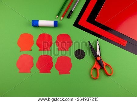 Step 3. Step By Step Instructions. How To Make A Red Poppy From Colored Paper. Creative Crafts For V