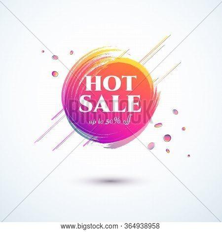 Banner Hot Sale 50 Off Bright Duotone Gradient Banner For Web Stores Shop Online Sale Sticker Promo