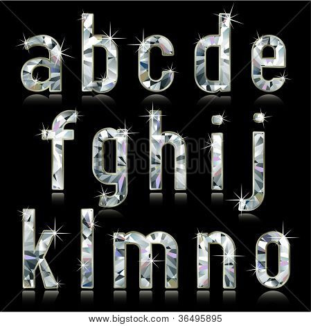 Diamond alphabet characters (lower case)