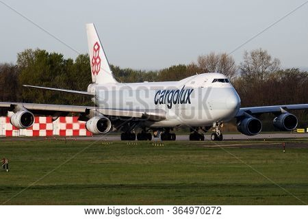 Budapest / Hungary - April 14, 2018: Cargolux Boeing 747-400 Lx-fcl Cargo Plane Departure And Take O