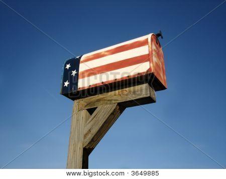Old Patriotic Mailbox