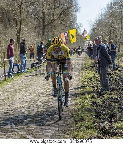 Wallers,france - April 12,2015: The Belgian Cyclist, Maarten Wynants Of Team Lottonl-jumbo Riding On