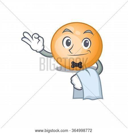 A Cartoon Character Of Staphylocuccus Aureus Waiter Working In The Restaurant