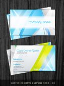 vector creative business card template poster