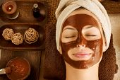 Chocolate Luxury Spa. Facial Mask poster