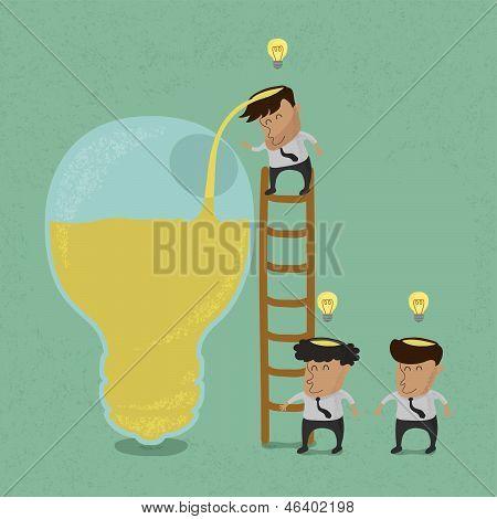 Business man brainstorming , Make Idea vector format