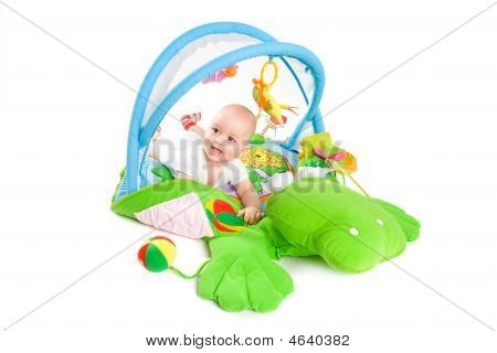 Baby gymnastik isoliert
