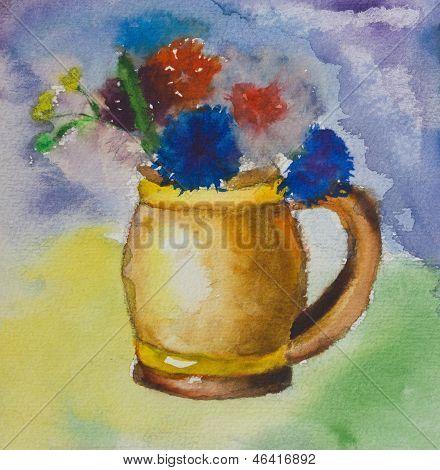 Aquarelle Colorful Bouquet