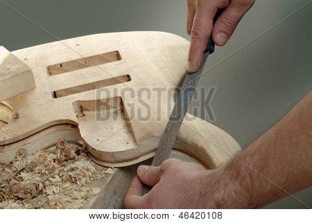 luthier, detail making of a stringed instrument