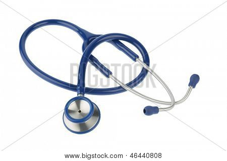 stethoscope against white background, symbol for professional medical profession and diagnostics