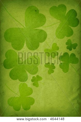 Green Clover Print
