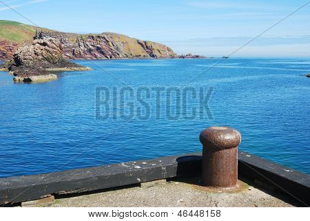 Harbour Entrance, Cliif And Rocks At St. Abbs, Berwickshire