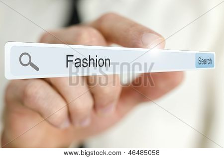 Word Fashion Written In Search Bar