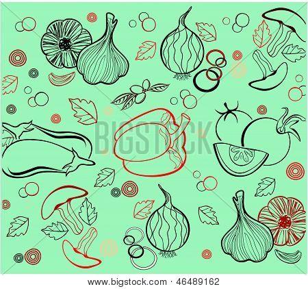 vegetables -vector background