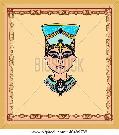 Old Paper With Egyptian Queen Cleopatra