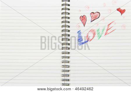 Love Written In Notebook