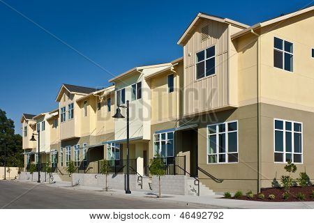 Row Of Townhomes