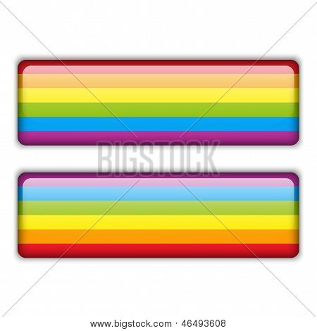 Gay Flag Equal Striped Sticker