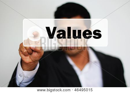 Male Professional Choosing Values Option