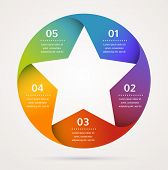 Star design template and infographics, abstract background poster