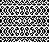 Seamless circle chain pattern Vector illustration isolate on white poster