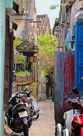 Narrow lane in HoiAn, Vietnam
