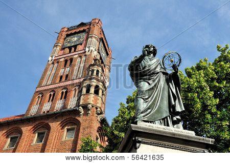 Nicolaus Copernicus Monument In Torun, Poland