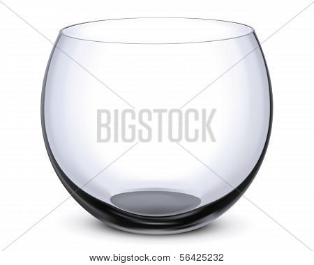 Fish Bowl Isolated On White.