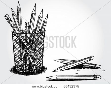 Still Life With Pencils