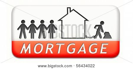 mortgage house loan paying money costs back to bank to avoid foreclosure and repossession problems paper chain silhouette