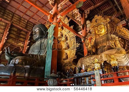 Great Buddha Hall at Todaiji Temple in Nara
