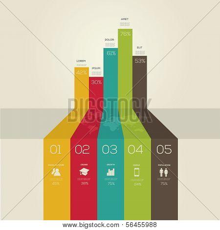 Simple infographics Lines. Retro style.