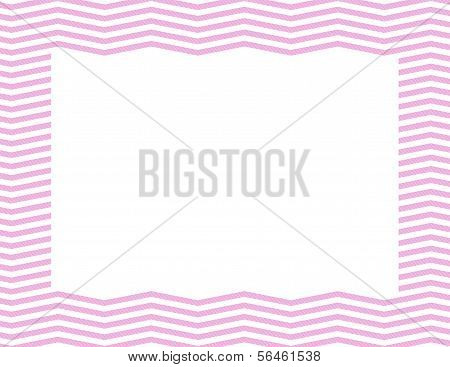 Pink Chevron Frame Background with center isolated for copy-space Pink Chevron Frame poster