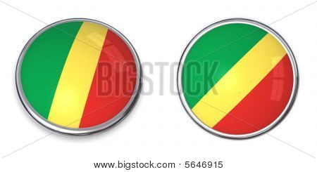 Banner Button Republic Of The Congo