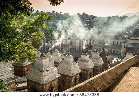 poster of Smoke from The Funeral Gath in Pashupatinath