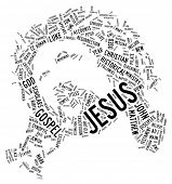 Face of Jesus Christ - Word Art | Tag Cloud poster