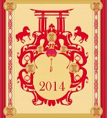 Year of Horse vector graphic design , vector illustration poster
