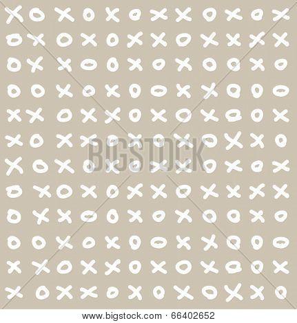 Funny simple vector seamless ticktacktoe pattern