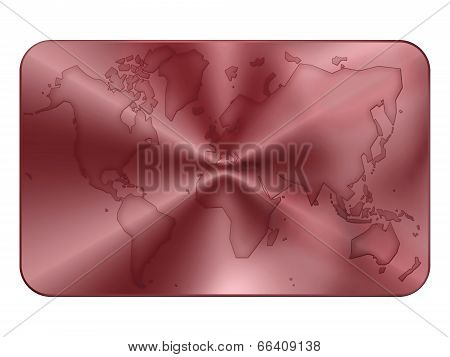 Bank Card Blank In Red