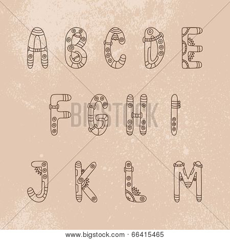Steampunk Font  A-m